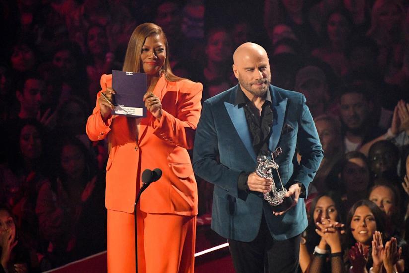 John Travolta e Queen Latifah ai VMA 2019