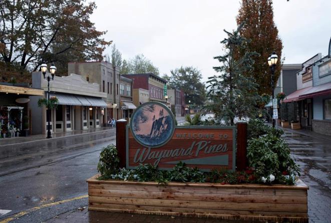 Un'immagine della cittadina di Wayward Pines