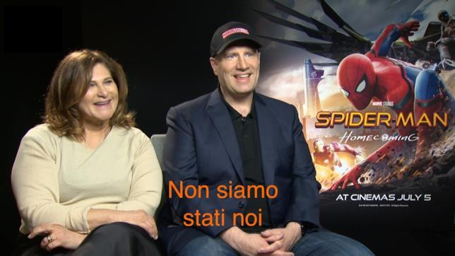 Amy Pascal e Kevin Feige durante il tour promozionale di Spider-Man: Homecoming
