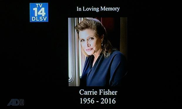 Carrie Fisher: la sua immagine per ricordarla prima di un nuovo episodio dei Griffin