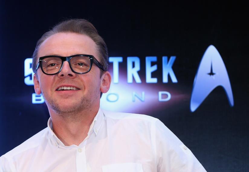 L'attore Simon Pegg