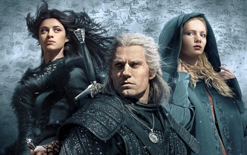 I protagonisti nel poster promozionale di The Witcher