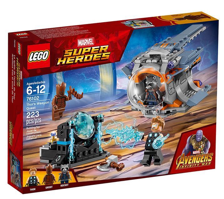 Dettagli del box del set La ricerca dell'arma suprema di Thor di LEGO