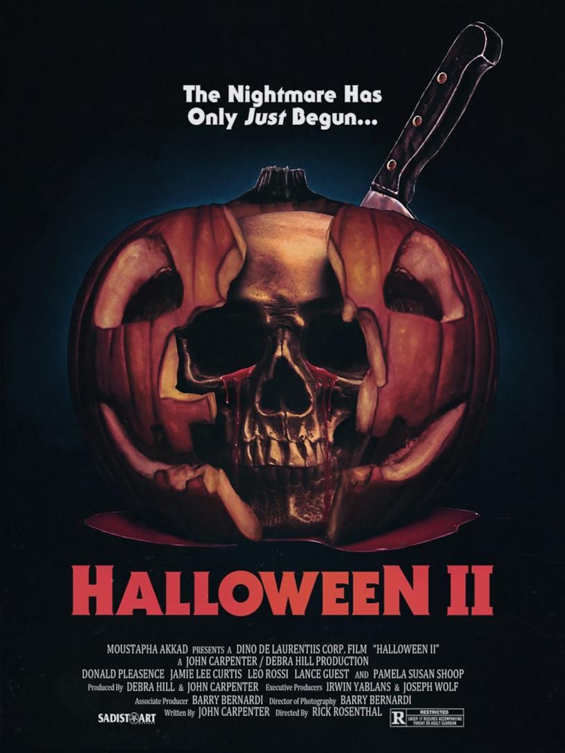 Halloween II: il poster del film datato 1981
