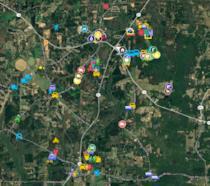 La mappa interattiva di The Walking Dead