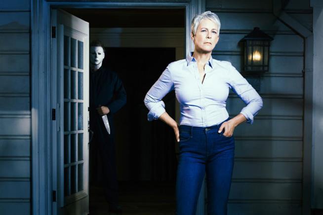 Jamie Lee Curtis in un'immagine promozionale dal nuovo Halloween