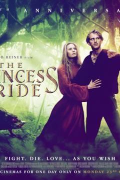 Buttercup e Weastley sulla locandina di The Princess Bride