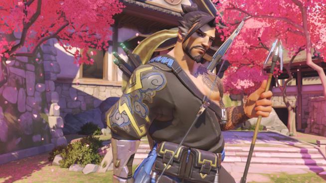 Primo piano per Hanzo, uno degli eroi di Overwatch
