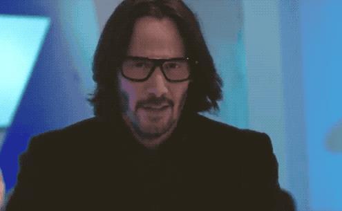 Una GIF di Keanu Reeves dal film Finché forse non vi separi