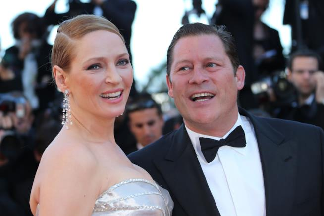 Primo piano di Uma Thurman e Arpad Busson