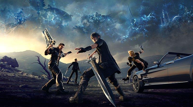 I protagonisti di Final Fantasy XV sulla box art ufficiale del gioco
