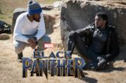 Ryan Coogler e Chadwick Boseman durante una pausa sul set