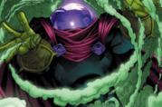 Il villain Mysterio in una tavola dei fumetti Marvel