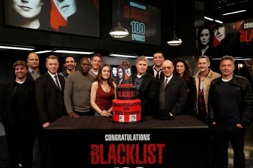 La torta per i festeggiamenti dei 100 episodi di The Blacklist
