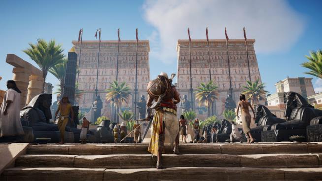 Bayek in un'immagine in-game di Assassin's Creed Origins