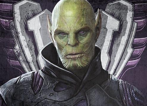 character poster di Captain Marvel dedicato a Talos