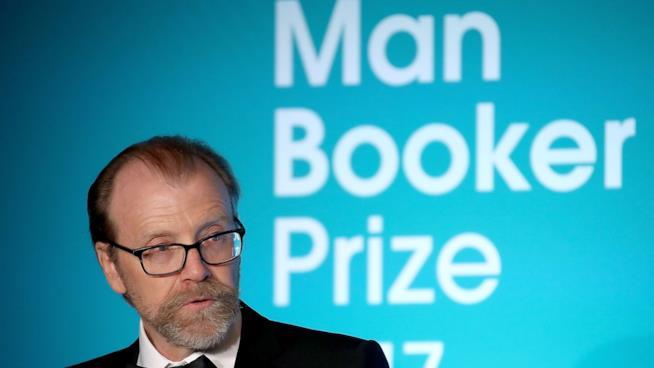 Saunders alla premiazione del Man Booker Prize 2017