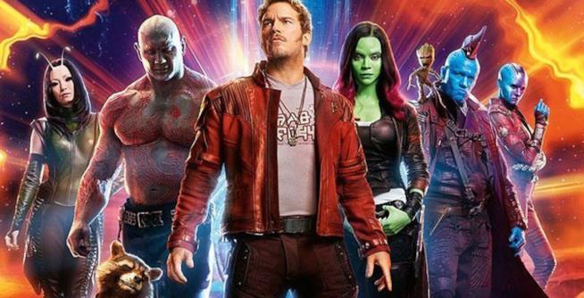 I Guardiani della Galassia in un poster del film