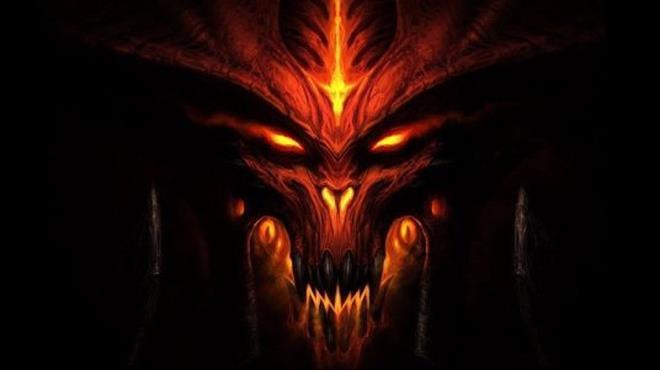 Immagine disegnata del viso del demone maggiore Diablo