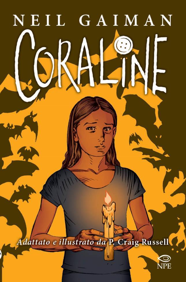 La cover del fumetto fantasy Coraline