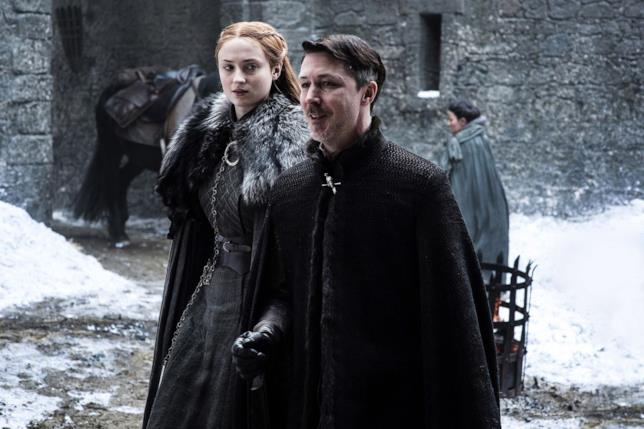Sophie Turner e Aidan Gillen in Game of Thrones