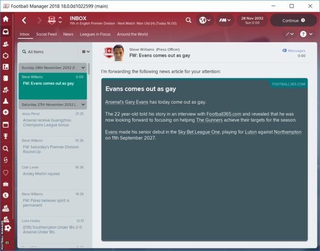 Football Manager 2018 darà la possibilità ai calciatori di fare coming out