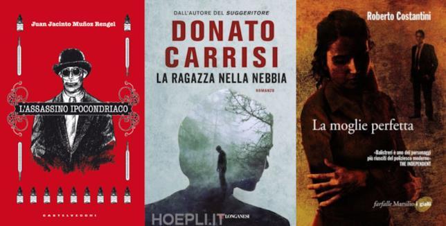 I romanzi L'assassino ipocondriaco, La ragazza nella nebbia e La moglie perfetta
