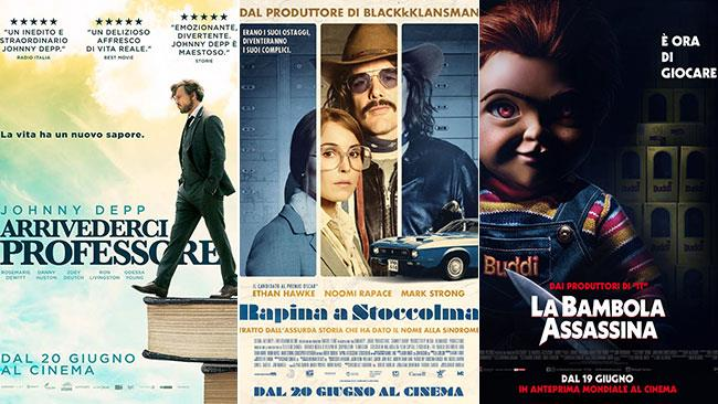 I poster di Arrivederci professore, Rapina a Stoccolma, La bambola assassina