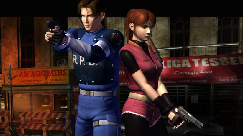Leon e Claire pronti a combattere in Resident Evil 2