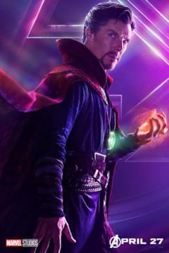 Il poster del personaggio di Doctor Strange