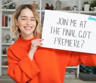 Primo piano di Emilia Clarke