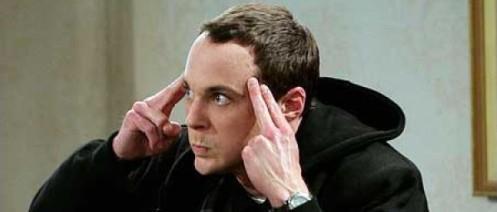Sheldon si concentra in un episodio di The Big Bang Theory