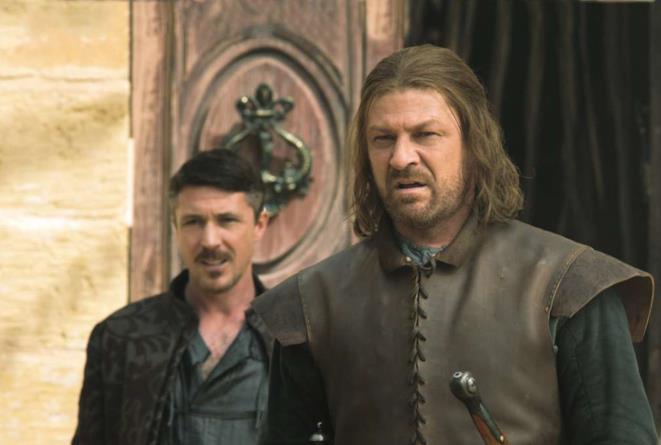 Ned Stark e Ditocorto in Game of Thrones 1