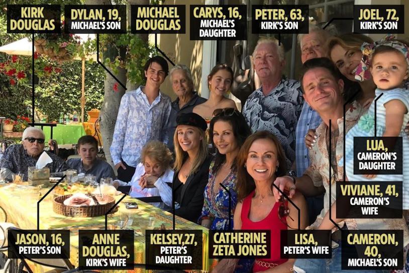 Una foto della famiglia Douglas