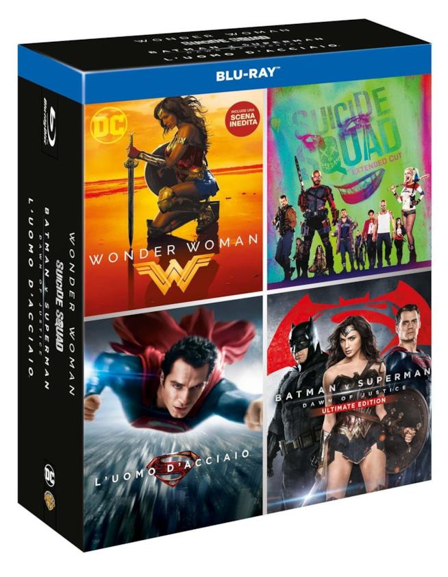 Copertina della collezione Boxset DC 4 Film