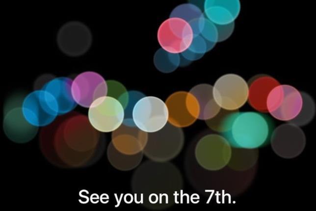 invito per la conferenza di lancio del nuovo iPhone 7