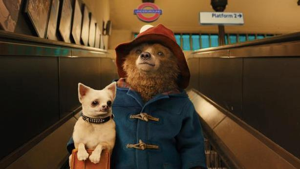 Paddington sulle scale della metropolitana
