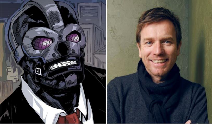 Ewan McGregor in un collage con Black Mask