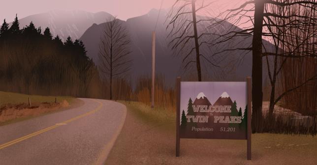 Twin Peaks, cartello di Benvenuto