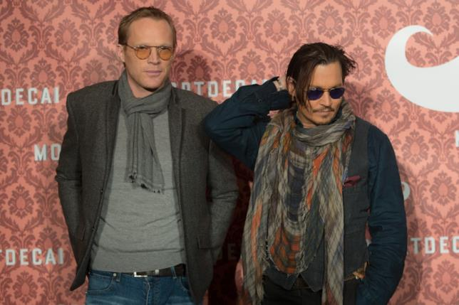 Johnny Depp e John Bettany a un evento