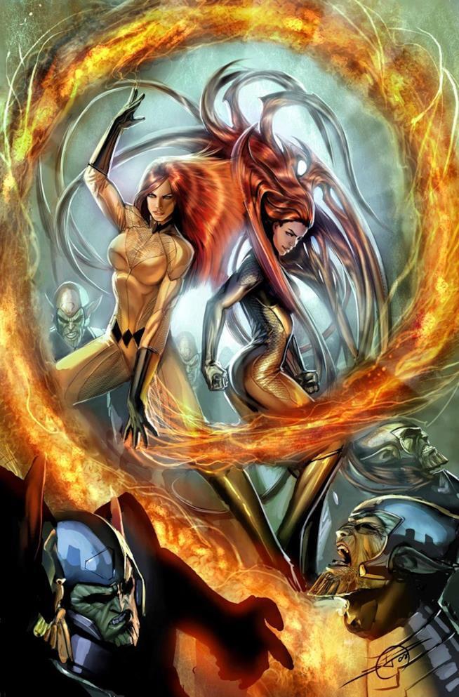 Crystal e Medusa in combattimento