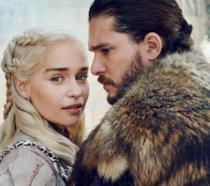 Emilia Clarke e Kit Harington sono Daenerys Targaryen e Jon Snow