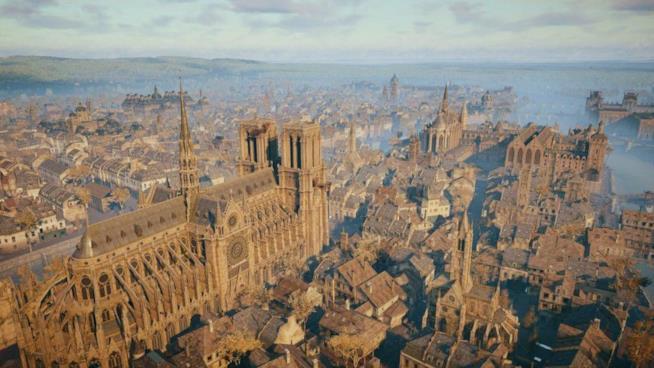 La cattedrale di Notre Dame riprodotta in Assassin's Creed Unity