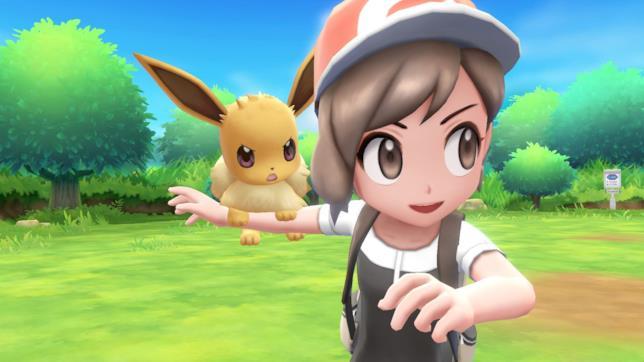 L'allenatrice di Pokémon Let'sGo Pikachu e Pokémon Let'sGo Eevee