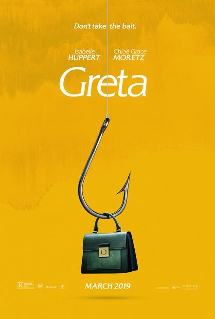 Una borsa nera appesa all'amo nel poster ufficiale di Greta