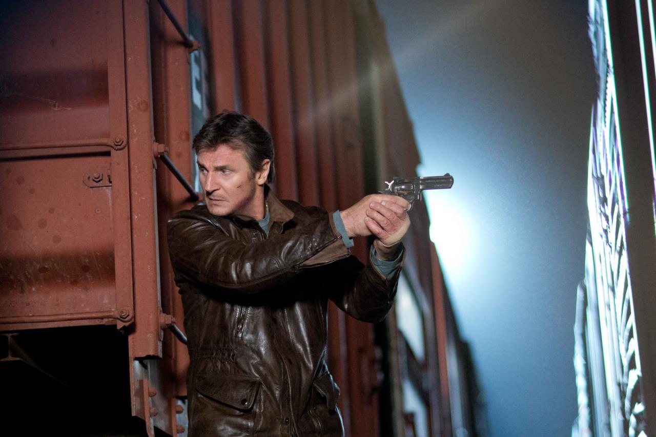 Una scena nel film thriller-action Una Notte per Sopravvivere con Liam Neeson