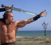 Arnold Schwarzenegger in Conan Il Barbaro