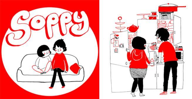 Philippa Rice e Luke Pearson così come appaiono in Soppy