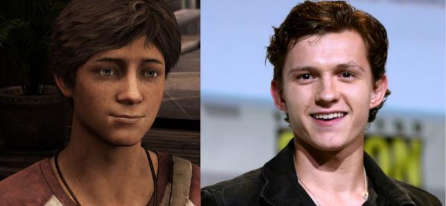 Tom Holland somiglia molto al giovane Nathan Drake comparso nei videogames di Uncharted
