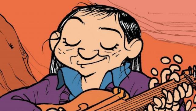 La copertina del fumetto di Tonfoni e Spataro sulla vita di Violeta Parra